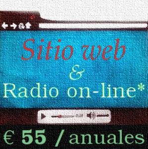 sitio web y radio on-line por 55 euros anuales